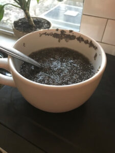 chia seeds soaked water don't last as long